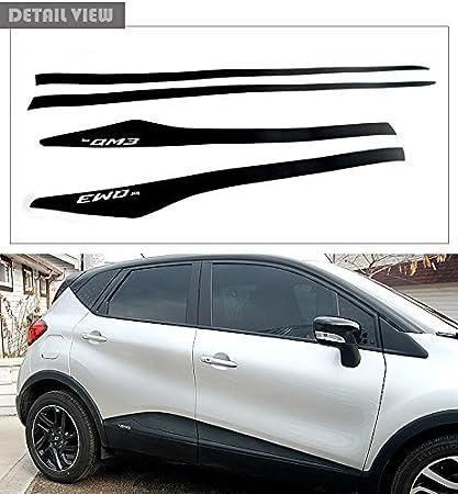 lightkorea puerta lateral línea adhesivo decorativo para pantalla negro para Renault qm3 Captur: Amazon.es: Coche y moto