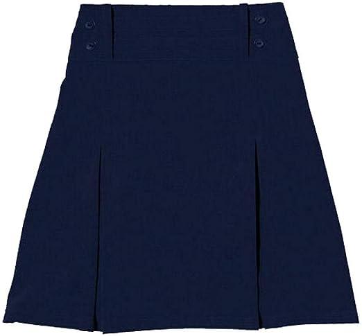 Style Wise Fashion Falda Plisada de Cuatro Botones para niñas ...