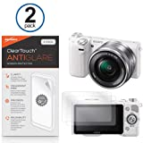 Sony NEX-5T Screen Protector, BoxWave® [ClearTouch Anti-Glare (2-Pack)] Anti-Fingerprint Matte Film Skin for Sony NEX-5T, FDR-AX100, HDR-CX900