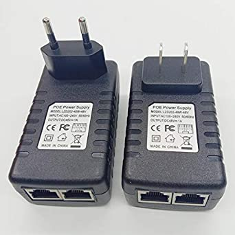 Universal 3~48V 1A PoE Power Injector Compact Size
