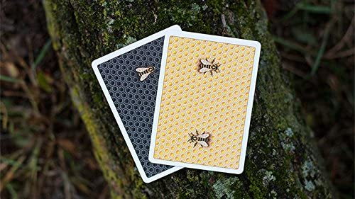 - Card Games SOLOMAGIA Honeybee V2 Playing Cards Yellow Magic Trick and Magic