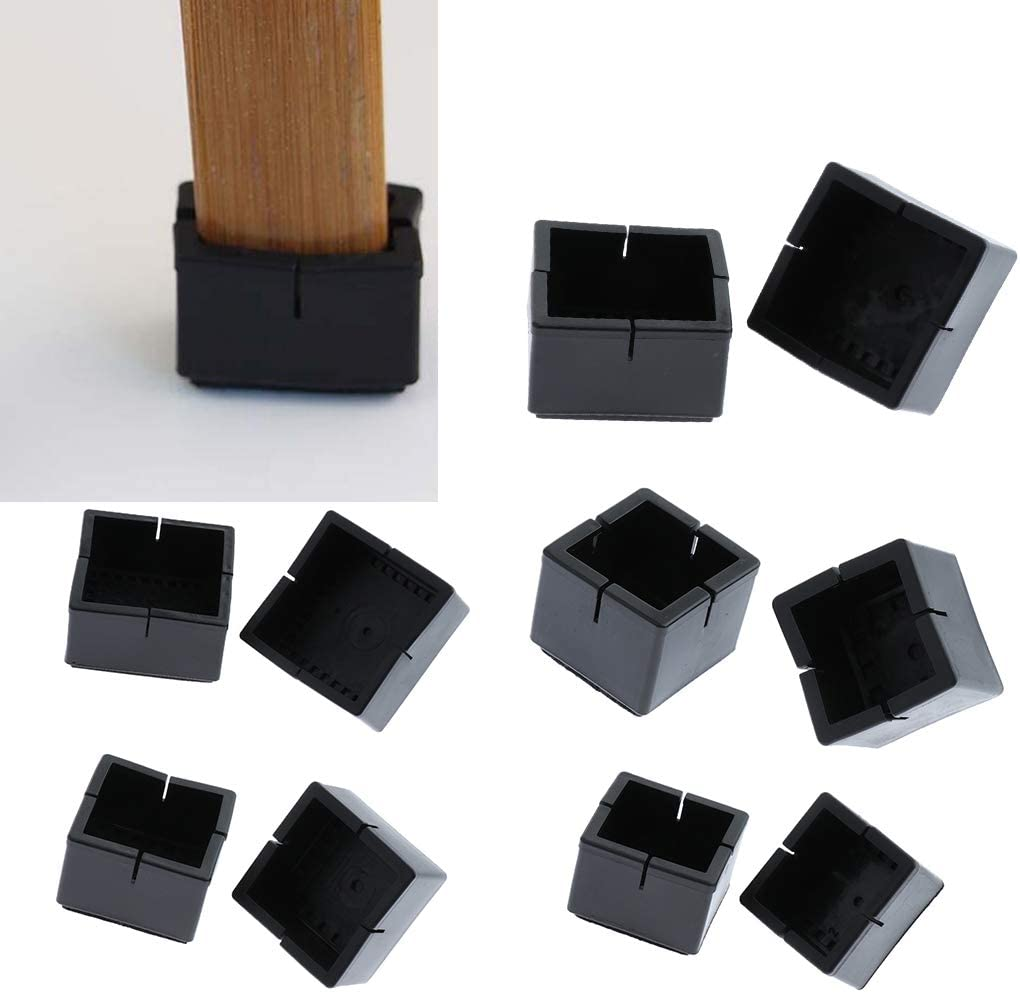3x3.3cm Fenteer 10pcs Coussins De Feutre en Silicone pour Pied De Chaise Carr/é