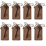AmaJOY 50 pcs Rustic Vintage Key Bottle Opener with Escort Card Tag and Twine Practical Wedding Favors Party Favors Team Favors Review