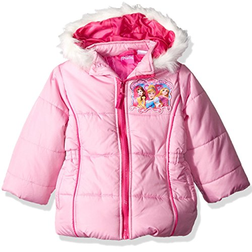 Girls Pink Embroidered Coat - 6