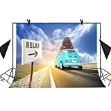 MEETS 7x5ft Travel Relax Photography Backdrop Suitcase Car Background Photo Booth Studio Props Theme Party YouTube Backdrop MT425