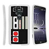 MINITURTLE Case Compatible w/ [LG G Flex Case, Curved Flex Case][Snap Shell] Hard Plastic Slim Fitted White Snap On Case Protector Cover w/ Unique Designs Game Controller