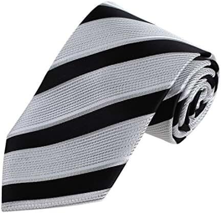 DAA7A01-03 Multicolored Stripes Tie Woven Microfiber Tie With Gift Box By Dan Smith