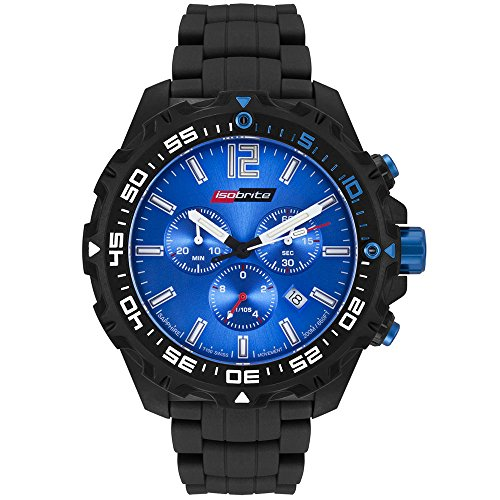 Isobrite ISO422 Valor Series Chronograph T100 Blue Dial Tritium Watch with NBR -