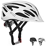 TeamObsidian Airflow Bike Helmet [ WHITE/MEDIUM – LARGE ] – for Adult Men & Women and Youth/Teenagers – CPSC Certified Bicycle Helmets for Road, Street or Mountain Biking – Best Cycling Gift Idea