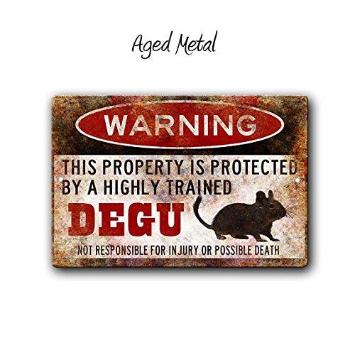Señal de Degu, Divertido Signo de Metal, Degu, Accesorios para ...