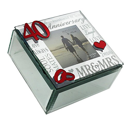 stylish-40th-anniversary-red-mirrored-trinket-box-and-photo-frame-with-glitter-font-by-haysom-interi