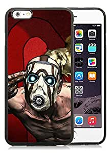 borderlands character mask light background Black iPhone 6 Plus 5.5 inch TPU Cellphone Case Luxurious and Newest Design