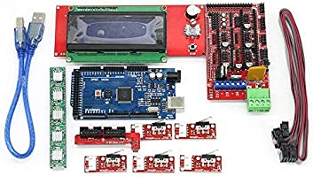 WOWOONE CNC 3D Printer Kit for Arduino Mega 2560 R3 RAMPS 1.4 Controller LCD 2004 + 6X Limit Switch Endstop 5 A4988 Stepper Driver 3D Printerarduino ...