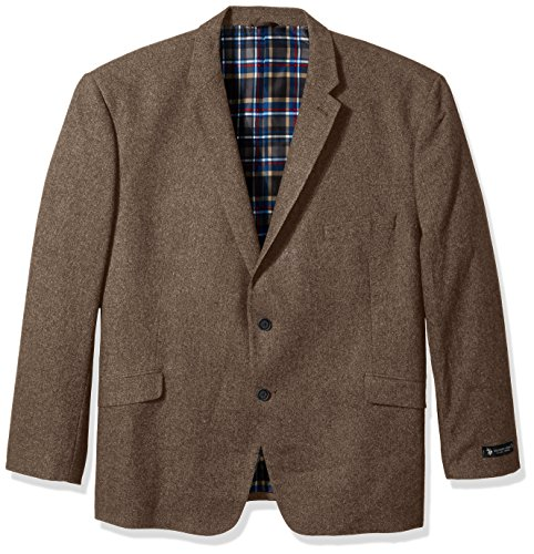 U.S. Polo Assn. Men's Big and Tall Wool Blend Sport Coat, Brown, 58 Regular