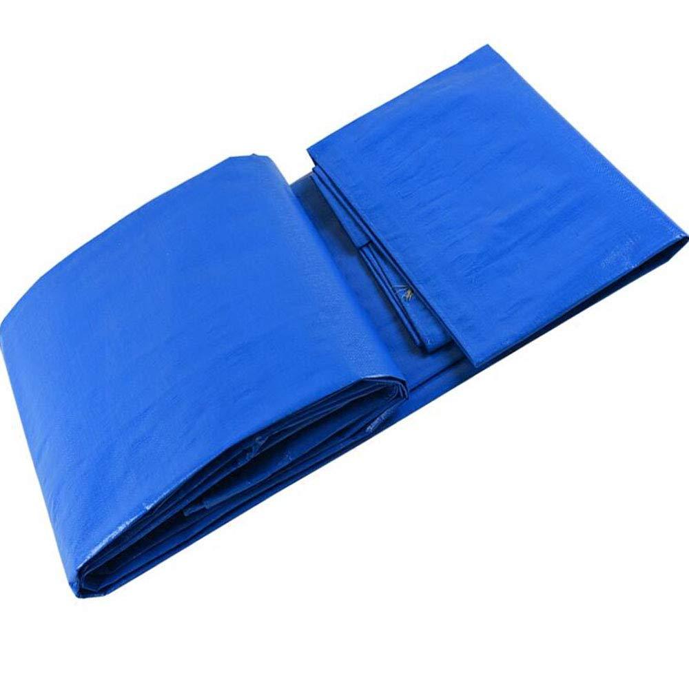 青い防水シート/折りたたみ式ワゴンカバー/両面プラスチック防水シート で利用可能 8M X 12M  B07Q1H1LNV
