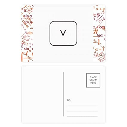 Teclado Símbolo V Fórmula Postal Set Tarjeta de ...