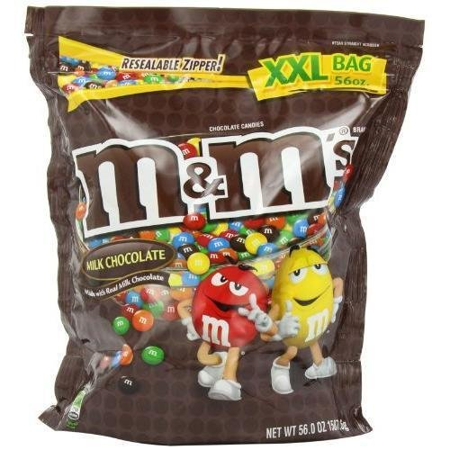 M&M Candy Milk Chocolate 56 Ounce New