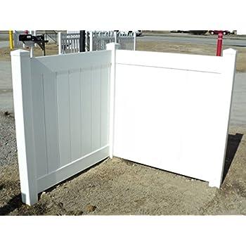 Amazon Com White Pvc Fence Corner Privacy Driveway