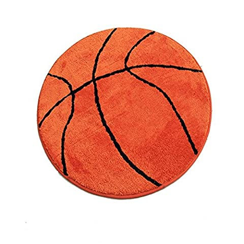 TCDBEST Area Rug Kids' Room Basketball Rug Non-Slip Backing Sports Themed for Bedroom, Kitchen, Hallway, Doorway (Kids Orange Rug)
