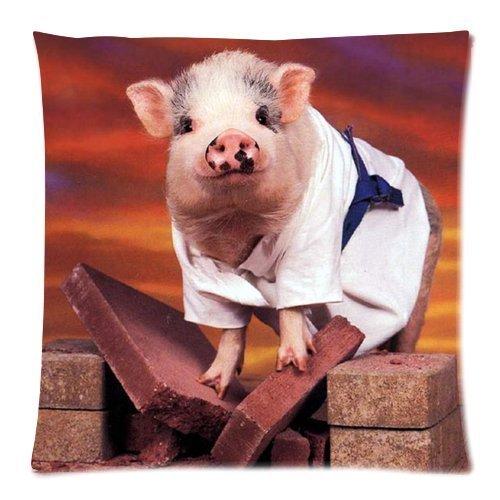 De moda y diseño lindo de cerdo cubierta de almohada ...