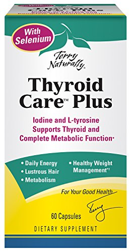 Terry Naturally Thyroid Care Plus with Selenium, Supports Thyroid, Immune and complete Metabolic Function - 60 (Selenium Thyroid Function)