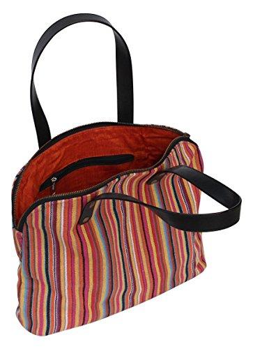 Gli oggetti in vendita - SouvNear mano Baguette borsetta in tela di materiale Con Doppia Maniglie e Zipper