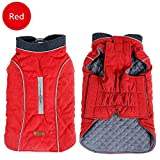 Ollypet Winter Clothes Jackets Vesr Coats for Large Small Medium Dogs Puppy Sweater Clothing Warm Fleece Apparel for Pets Red, Small