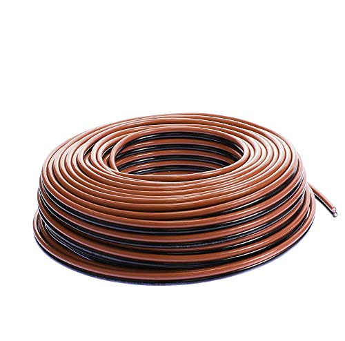 VOODOO 12 Gauge RED Black Zip Wire Cable Power Ground-Stranded Copper Car (100 FT)