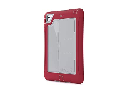 sports shoes 9c46a 23189 Griffin Survivor Slim iPad Mini 1/2/3 Case - Ultra-Protective and  Impact-Resistant, Crimson/Grey