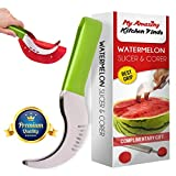 "â""–1 Choice Watermelon Slicer Corer - Best Grip - PVC handle - Highly durable - Kids friendly - No mess or dripping on your counter - Free watermelon baller bonus"