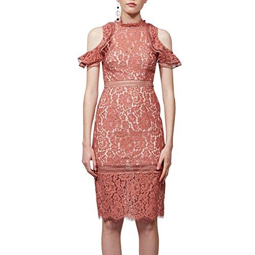 Keepsake The Label Oblivion Lace Midi Dress in Spice (Small, Spice)