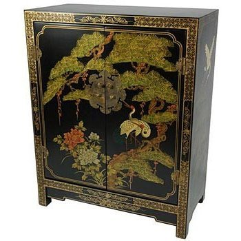 Black Oriental Storage Cabinet (Oriental Furniture Black Lacquer Cabinet)