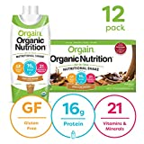 Orgain Organic Nutritional Shake, Iced Cafe Mocha - Meal Replacement, 16g Protein, 21 Vitamins & Minerals, Gluten Free, Soy Free, Kosher, Non-GMO, 11 Ounce, 12 Count (Packaging May Vary)