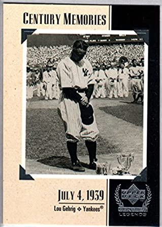 best website 757f7 b412b Amazon.com: Baseball MLB 1999 Upper Deck Century Legends ...