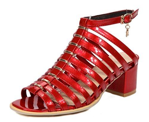 6cm Les Ceinture Xie Tous Sandales Red Romaines 34 41 Jours haut fine anti Shopping fête 41 Talon Femme Confort dérapant chaussures 6apxwqpf1X