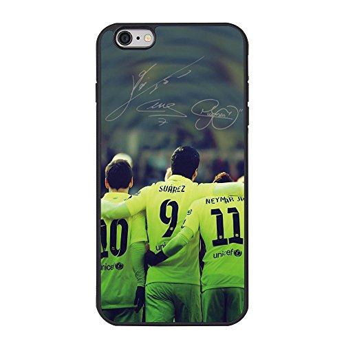 Messi,Neymar and Suarez Customized Back Cover Case TPU For iPhone 6 6s Plus Case (5.5 inch)