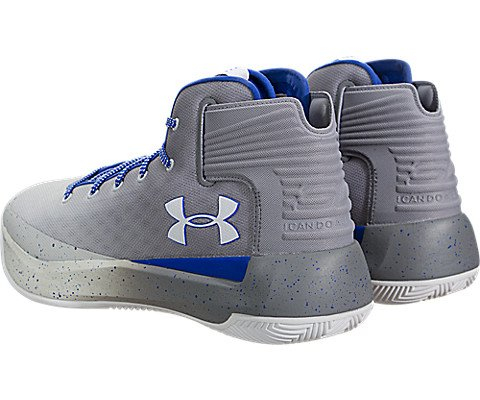 Under Armour Men's Curry 3 Basketball Shoes, Grey, Size 8.5 by Under Armour (Image #3)