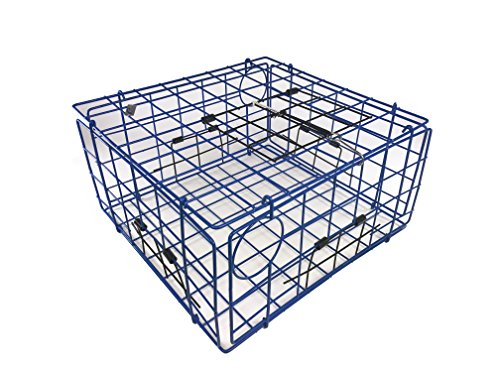 Collapsible Crab Traps (Promar TR-555 Folding Crab Trap with Top Door, Blue)