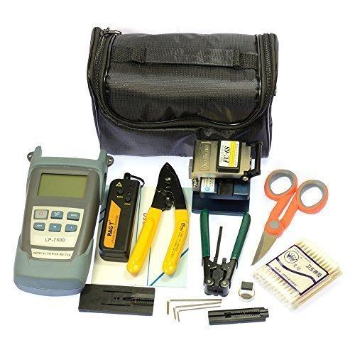 AIHOME 10 In 1 FTTH Optical Fiber Cleaver Tool Kit FC-6S 10Mw Pen-type Visual Fault Locator Power Meter Optic Stripper