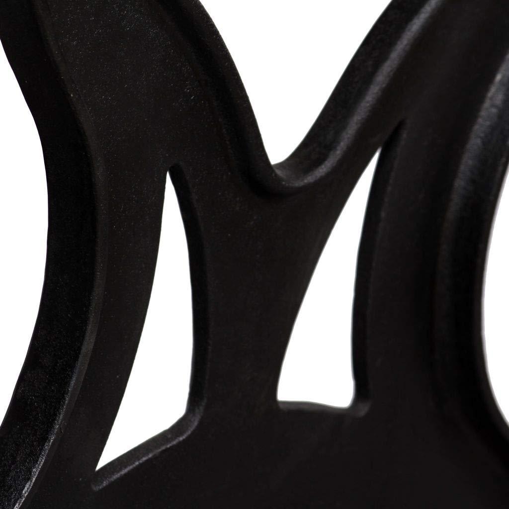 UnfadeMemory 2 Pack Patas para Mesa,Patas de Repuesto para Mesa de Comedor,Patas para Muebles,Estilo Antiguo y Industrial,Hierro Fundido,Negro Forma X -69x71cm