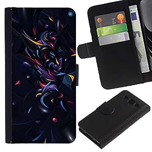 LECELL--Cuero de la tarjeta la carpeta del tirón Smartphone Slots Protección Holder For Samsung Galaxy S3 III I9300 -- Geometría Modelo abstracto --