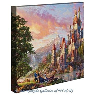 Thomas Kinkade Beauty and the Beast II 14x14 Canvas Wrap