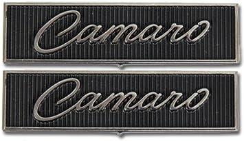 1968 1969 Camaro Door Panel Emblem Set Standard Interior