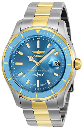 Invicta Men's Pro Diver Quartz Watch with Stainless-Steel Strap, Two Tone, 22 (Model: 25817)