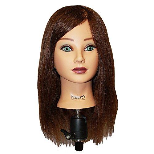 Mannequin Female Hairart - HAIRART 100% Human Hair Mia Deluxe18 Inch Mannequin 4835