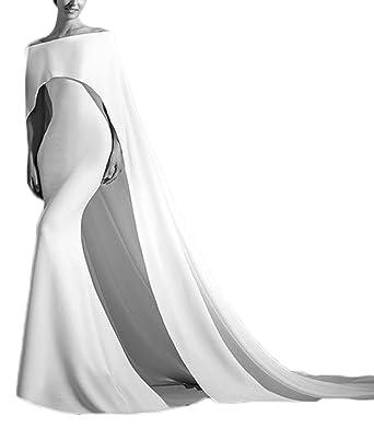 alilith.Z Elegant Off The Shoulder Long Mermaid White Prom Dresses ...