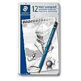 Staedtler Pencil Mars Lumograph, 12 Pieces Set (100 G12)