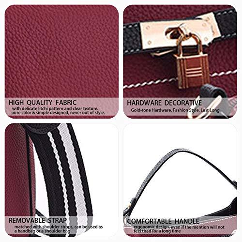 Púrpura Bolsas Cruz De Hombro Mujeres Color Bolsos Las Superior cuerpo De De De Bolsas De Bolsas Imitación Cuero Asa qU4ApwU