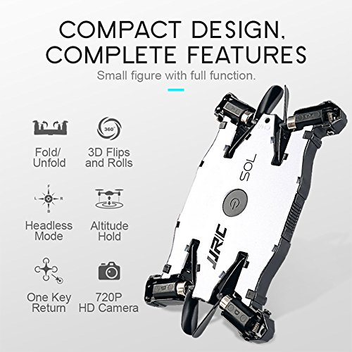 JJRC-H49-SOL-Foldable-Ultrathin-Wifi-FPV-Drones-with-720p-HD-CameraDual-Remote-Control-ModeWhite