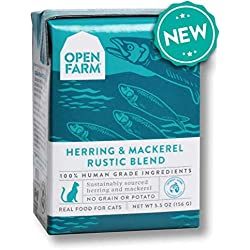 Open Farm Herring & Mackerel Rustic Blend Stew for Cats 5.5 Ounces, Case of 12